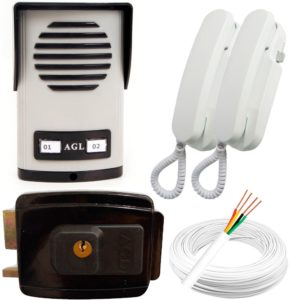 kit-interfone-2-pontos-fechadura-eletrica-agl-50m-cabo